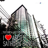 Photo taken at Ascott Sathorn Bangkok by May M. on 7/10/2013