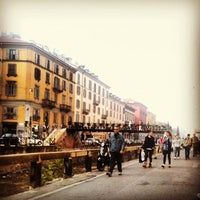 Photo taken at Naviglio Grande by Alessia B. on 10/21/2012