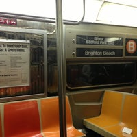 Photo taken at MTA Subway - B Train by Albert S. on 11/27/2012