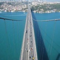 Photo taken at Fatih Sultan Mehmet Bridge by Can A. on 7/23/2013