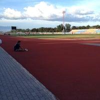 Photo taken at สนามกีฬากลางจังหวัดประจวบคีรีขันธ์ by Au P. on 5/15/2014
