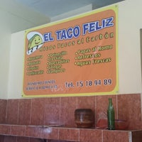 Photo taken at El Taco Feliz by Alejandro R. on 2/10/2014