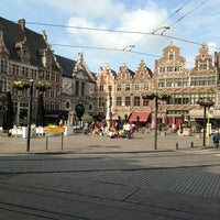 Photo taken at Sint-Veerleplein by Raf K. on 6/25/2013