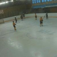 Photo taken at Talsu hokeja klubs (Talsi Ice Hockey club) by Deivids B. on 2/14/2015