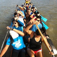 Photo taken at Austin Coolers Dragon Boat Warehouse by Joseph on 10/2/2013