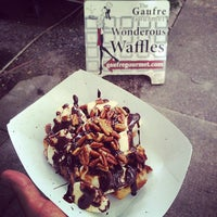 Photo taken at The Gaufre Gourmet by Justin B. on 5/17/2014