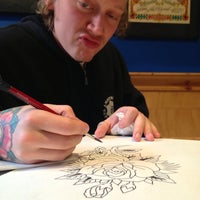 Photo taken at Modern Tattooing: Schiffmacher & Veldhoen by Roel B. on 5/23/2013