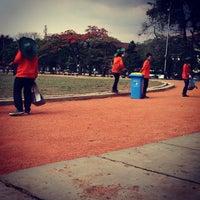 Photo taken at Lapangan Gasibu by Heni R. on 10/1/2013