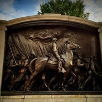 Photo taken at Robert Gould Shaw Memorial by Kevin C. on 10/30/2014