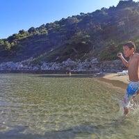 Photo taken at Sunj Lopud Beach by Bülent K. on 7/7/2016