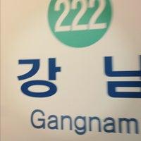 Photo taken at Gangnam Stn. by Olivia on 11/26/2012