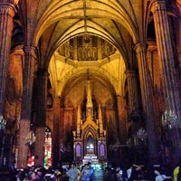 Photo taken at Minor Basilica of San Sebastian (Shrine of Our Lady Of Mount Carmel) by Jhepoi J. on 3/28/2013