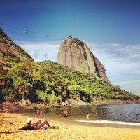 Photo taken at Praia Vermelha by Kadija P. on 11/20/2012