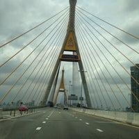 Photo taken at Bhumibol 1 Bridge by Luca S. on 7/27/2013