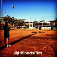 Photo taken at Rainbow Wahine Softball Stadium by Andrew L. on 1/22/2013