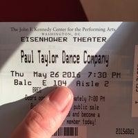Photo taken at John F. Kennedy Center Eisenhower Theatre by Megan L. on 5/26/2016