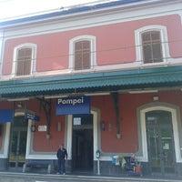 Photo taken at Stazione di Pompei by Lydia L. on 5/10/2014