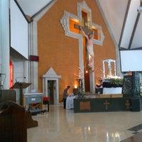 Photo taken at Gereja Katolik Redemptor Mundi by Sandy P. on 5/19/2013