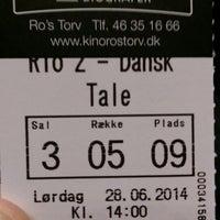 Photo taken at Ro's Torv Kino 123 by Thomas Kjærgaard J. on 6/28/2014