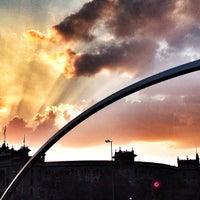 Photo taken at Puente de Ventas by Manu A. on 8/24/2013