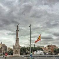 Photo taken at Plaza de Colón by Manu A. on 1/7/2014