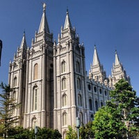 Photo taken at Temple Square by Addam H. on 7/18/2013