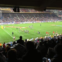 Photo taken at Newlands Rugby Stadium by Kobus M. on 7/13/2013