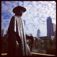 Photo taken at Stevie Ray Vaughan Statue by Rod M. on 11/15/2012