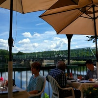 Photo taken at New Hope-Lambertville Toll Supported Bridge by James D. on 9/2/2016