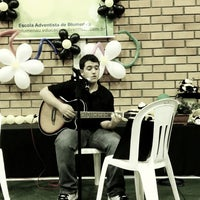 Photo taken at Escola Adventista de Blumenau by Fabiana J. on 10/4/2012