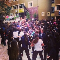 Photo taken at Çamlıca Kız Anadolu Lisesi by Serenay B. on 11/18/2013