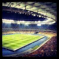 Photo taken at Olimpiyskiy Stadium by Vladislav M. on 7/3/2013