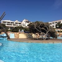 Photo taken at Colonna Hotel Capo Testa by Gregory K. on 8/20/2014