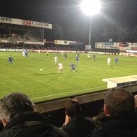 Photo taken at Soevereinstadion | Lommel United by Annemie L. on 12/12/2015