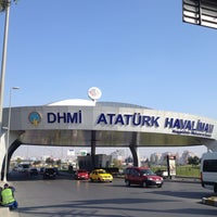 Photo taken at Istanbul Atatürk Airport (IST) by Mehtap I. on 10/28/2013