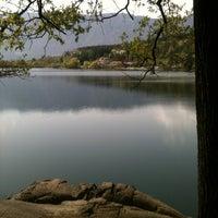 Photo taken at Großer Montiggler See / Lago Grande di Monticolo by Elena S. on 4/6/2014