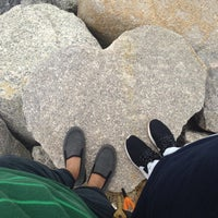 Photo taken at Pantai Puteri by Ez Z. on 9/14/2016