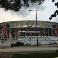 Photo taken at Itaipava Arena Fonte Nova by Márcio R. on 4/20/2013