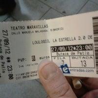 Photo taken at Teatro Maravillas by Santy P. on 9/27/2012