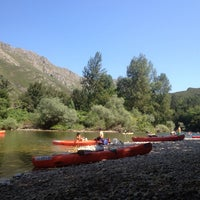 Photo taken at Río Sella by Adriana A. on 8/15/2013