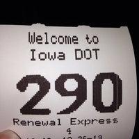 Photo taken at Iowa DOT License Station by Kristen C. on 12/26/2013