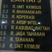 Photo taken at Polres Metro Jakarta Timur by Sopar M. on 7/12/2013