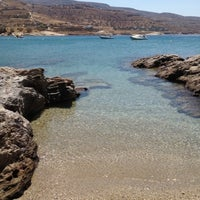Photo taken at Porto Koundouros Beach by George X. on 8/18/2012