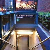 Photo taken at MTA Subway - 77th St (6) by Luis C. on 8/13/2011