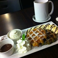 Photo taken at Michi Waffle & Espresso Bar by James W. on 4/21/2011