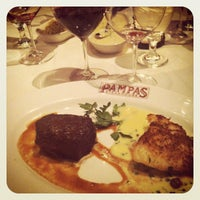 Photo taken at Pampas Argentine Steakhouse by Sepehr V. on 4/14/2012