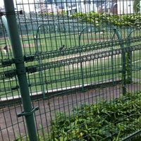 Photo taken at 青山運動場 野球場 by Yuya K. on 6/28/2012