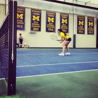 Photo taken at University of Michigan Varsity Tennis Center by Adam G. on 1/19/2014