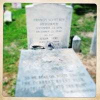 Photo taken at F. Scott Fitzgerald's Grave by Katalin E. on 5/23/2014