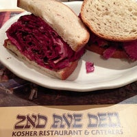 Photo taken at 2nd Ave Deli by Andrew J. L. on 12/21/2012